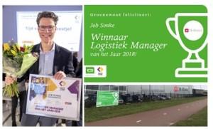 Titel Logistiek Manager van het Jaar 2018 voor Job Sonke, Hollister
